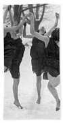 Barefoot Dance In The Snow Beach Towel