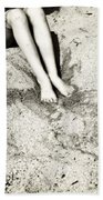 Barefoot In The Sand Beach Towel