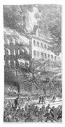 Barnums Museum Fire, 1865 Beach Towel