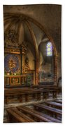 Baroque Church In Savoire France 2 Beach Towel