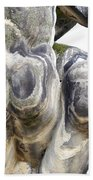 Baroque Statue - Detail - Backside Beach Towel by Michal Boubin