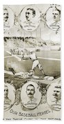 Baseball, 1895 Beach Towel