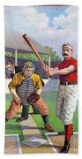 Baseball Game, C1895 Beach Towel