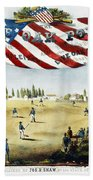 Baseball Song Sheet, 1860 Beach Towel