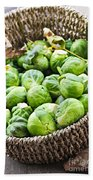 Basket Of Brussels Sprouts Beach Towel