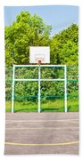 Basketball Court Beach Towel