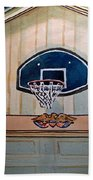 Basketball Hoop Sketchbook Project Down My Street Beach Towel by Irina Sztukowski