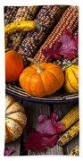 Basketful Of Autumn Beach Towel