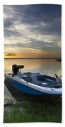 Bass Fishin' Evening Beach Towel