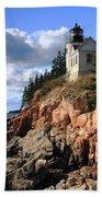 Bass Harbor Head Lighthouse Beach Towel