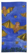 Bat People At The Pipistrelle Party Beach Towel