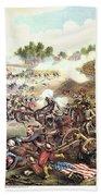 Battle Of Bull Run, 1861 Beach Towel
