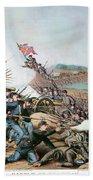 Battle Of Franklin, 1864 Beach Towel