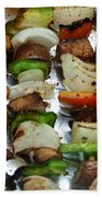 Bbq Grilled Vegetables Beach Towel