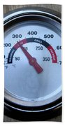 Bbq Thermometer Beach Towel