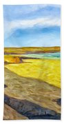 Beach Cliffs South Of San Onofre Beach Towel