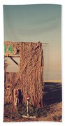Beach Hut Number Fourteen Beach Towel by Laurie Search