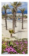 Beach In Puerto Banus Beach Towel