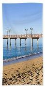 Beach Pier In Marbella Beach Towel