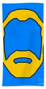 Beard Graphic  Beach Towel