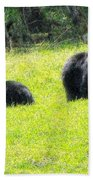Bears In A Peaceful Meadow1 Beach Towel