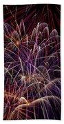 Beautiful Fireworks Beach Towel