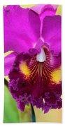Beautiful Hot Pink Orchid Beach Towel