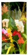 Bed Of Orchids Beach Towel