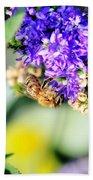 Bee Happy Beach Towel
