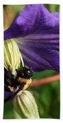 Bee On Flower Beach Towel