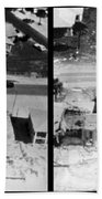 Before And After Hurricane Eloise 1975 Beach Towel by Science Source