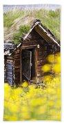 Behind Yellow Flowers Beach Towel
