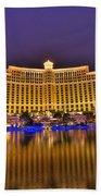 Belagio Las Vegas Beach Towel by Nicholas  Grunas