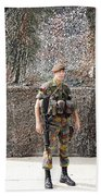 Belgian Soldier On Guard Beach Towel