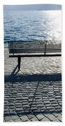Bench With Shadow Beach Towel
