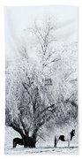 Beneath A Frosty Canopy Beach Towel by Mike  Dawson