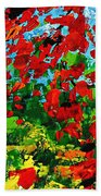 Beneath The Autumn Tree Beach Towel