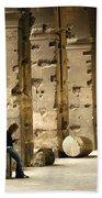 Beneath The Colosseum Beach Towel
