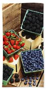Berries Beach Towel by Photo Researchers