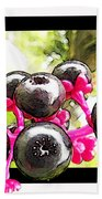 Berry Burst   Poke Berries Beach Towel