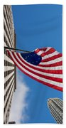 Betsy Ross Flag In Chicago Beach Towel