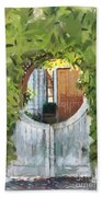 Beyond The Gate - A Scene From Mackinac Island Michigan Beach Towel