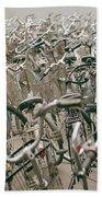 Bicycle Park In Beijing In China Beach Towel