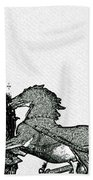 Big Ben And Boudica Charcoal Sketch Effect Image Beach Towel