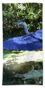 Big Blue In Flight Beach Towel