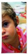 Big Brown Eyes Beach Towel