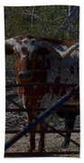 Big Bull Long Horn Beach Towel
