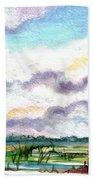 Big Clouds Beach Towel
