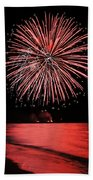 Big Red Beach Towel by Bill Pevlor