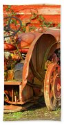 Big Red Tractor Beach Towel